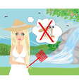 hunt for mosquitoes vector image vector image