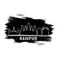 kanpur india city skyline silhouette hand drawn vector image vector image