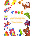 kids toys poster kid toy brochure cover design vector image vector image