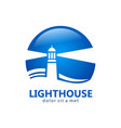 lighthouse business logo vector image vector image