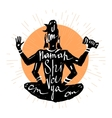 Lord Shiva Typography poster vector image