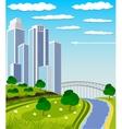 Modern metropolis skyline vector image vector image