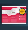 modern tri-fold brochure design template vector image