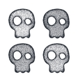 Ornament skull set vector image
