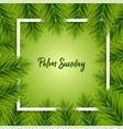 palm sunday background vector image