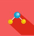 physics lattice icon flat style vector image vector image