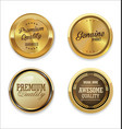 quality golden badges 4 vector image vector image