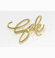 realistic golden inscription sale on a white vector image vector image