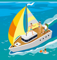 rich people yacht isometric vector image vector image