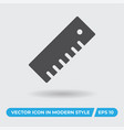 ruler icon simple sign for web site and mobile app vector image vector image