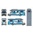 rv template vehicle branding mock up vector image vector image