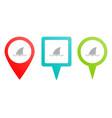sea shark business multicolor pin icon vector image vector image