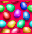 seamless pattern of colored easter eggs vector image vector image