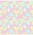 seamless pattern with leaves and flowers vector image vector image