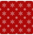 Seamless snowflake Christmas background vector image vector image