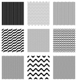 seamless wavy line patterns vector image vector image