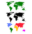 Set abstract world maps