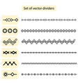 set dividers isolated on white background vector image vector image