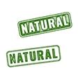 set green natural grunge rubber stamp vector image vector image