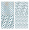set of four delicate seamless elegant patterns vector image