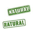Set of green Natural grunge rubber stamp vector image vector image