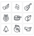 Set of Musical Instruments Icons Trumpet vector image