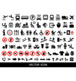 set of public icons vector image vector image