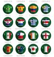soccer flag shirt icons vector image