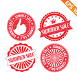 Stamp sticker summer sale collection - - EP vector image vector image