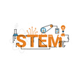 STEM word typography design vector image