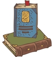 Two Closed Books vector image vector image