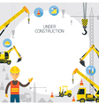Under Construction Frame vector image