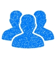 User Group Grainy Texture Icon vector image vector image