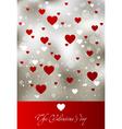 valentine art background vector image