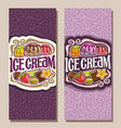 vertical banners for ice cream vector image vector image