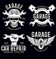 vintage car service badges templates emblems and vector image