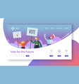 voting elections landing page template business vector image