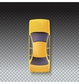 Yellow Taxi - Top view vector image