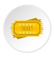 ticket icon circle vector image