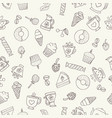 seamless hand drawn pattern vector image