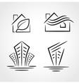 building development symbol emblem set vector image