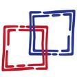 image of a geometric figure vector image