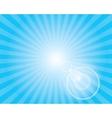Sun Sunburst Pattern with lens flare Blue sky vector image
