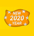 2020 new year celebrating concept vector image vector image
