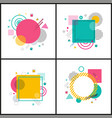 abstract placard collection on vector image vector image