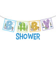 baby shower banner vector image