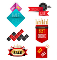 Badges Ribbons and banners vector image vector image