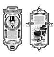 barber shop flyer template gentlemanbarber chair vector image vector image