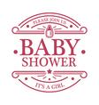 bashower girl emblem vector image vector image