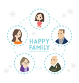 big happy family portrait cartoon vector image vector image